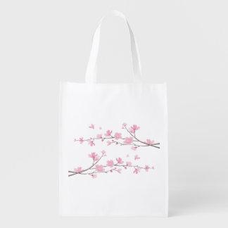 Kirschblüte - transparenter Hintergrund Wiederverwendbare Einkaufstasche