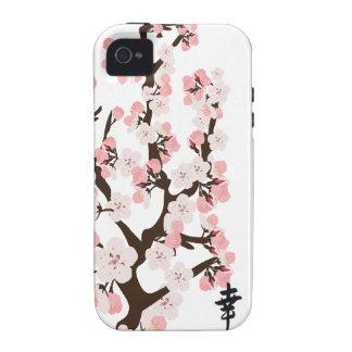 Kirschblüte und Kanji-Case-Mate stark iPhone 4 Hüllen