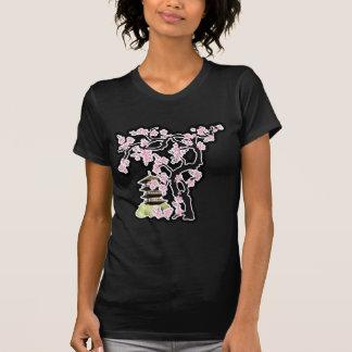 Kirschblüte- und Pagoden-Japaner-Entwurf Shirts