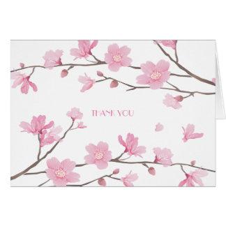 Kirschblüte - weißer Hintergrund - DANKE Karte