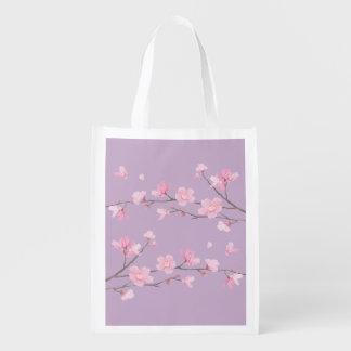 Kirschblüte Wiederverwendbare Einkaufstasche