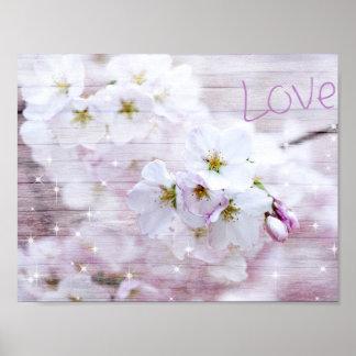 Kirschblüten-Art Poster