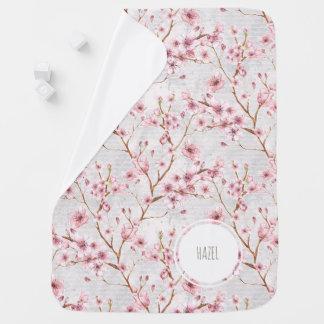 Kirschblüten-Baby-Decke Babydecke