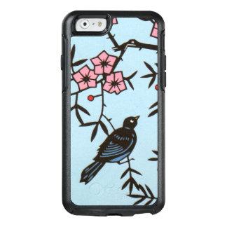 Kirschblüten-Baum mit schwarzen Vogel-Beeren OtterBox iPhone 6/6s Hülle