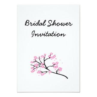 Kirschblüten-billiges Brautparty-Party 12,7 X 17,8 Cm Einladungskarte