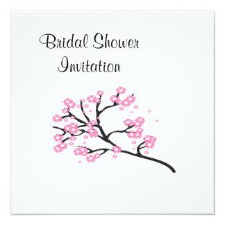 Kirschblüten-billiges Brautparty-Party Quadratische 13,3 Cm Einladungskarte