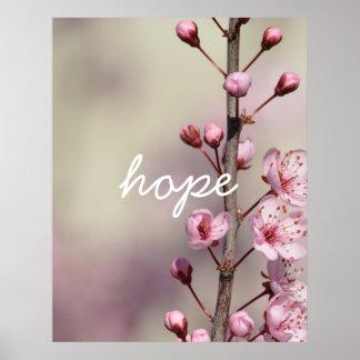 Kirschblüten-Blumen-Hoffnung Poster