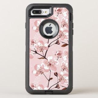 Kirschblüten-Blumen-Muster OtterBox Defender iPhone 8 Plus/7 Plus Hülle