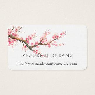 Kirschblüten-Blumen Visitenkarte