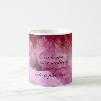 Kirschblüten-Collagen-Tee-Zitat Kaffeetasse
