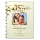 Kirschblüten, die Planer-Notizbuch (Gelb, Wedding Spiral Notizblock
