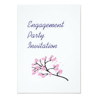 Kirschblüten-einfaches elegantes Verlobungs-Party 12,7 X 17,8 Cm Einladungskarte