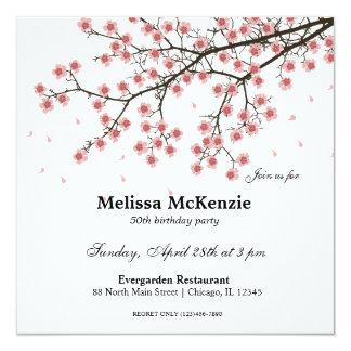 Kirschblüten-Geburtstags-Party Karte