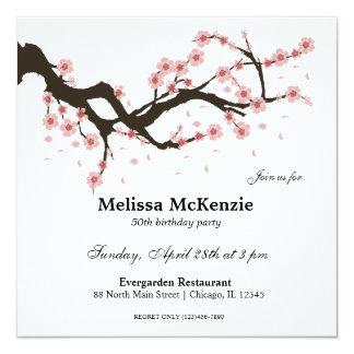 Kirschblüten-Geburtstags-Party Quadratische 13,3 Cm Einladungskarte