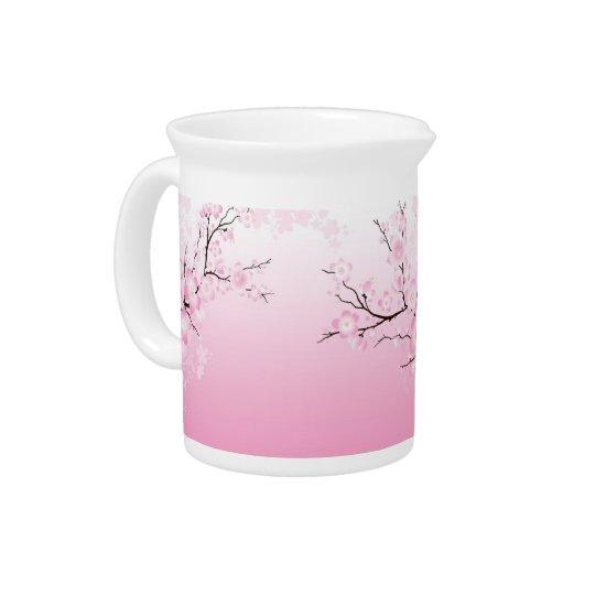 Kirschblüten Getränke Krüge