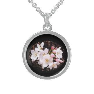 Kirschblüten-Gruppe Sterling Silberkette