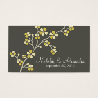 Kirschblüten-Hochzeits-Visitenkartedunkelheit Visitenkarte