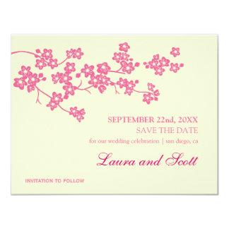 Kirschblüten in der Rosa-Save the Date Einladung
