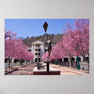 Kirschblüten in Quellen-Arkansas-Plakat Poster