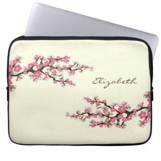 Kirschblüten-Kirschblüte-Laptop-Hülse Rosa Computer Sleeve Schutzhülle