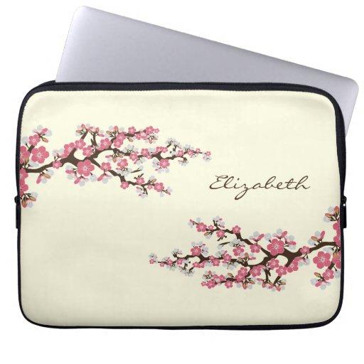 Kirschblüten-Kirschblüte-Laptop-Hülse (Rosa) Computer Sleeve Schutzhülle