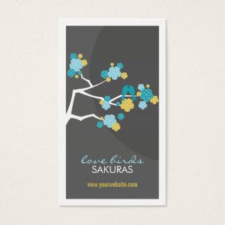 Kirschblüten-Kirschblüte-Liebe-Vogel-Visitenkarte Visitenkarte