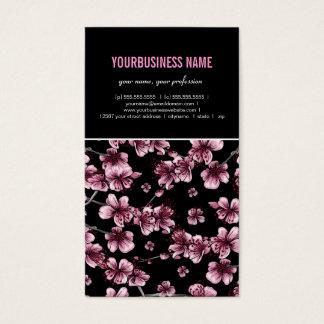 Kirschblüten-Kirschblüte-Visitenkarte Visitenkarte