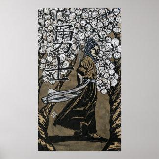 Kirschblüten-Krieger durch Carter L Schäfer Poster