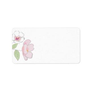 Kirschblüten-Leeradresse-Aufkleber Adressaufkleber