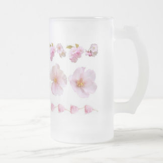 Kirschblüten Mattglas Bierglas