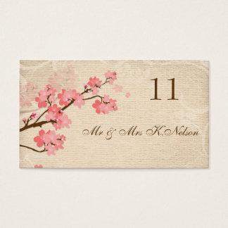 Kirschblüten-Platzkarte-/Tabellenkarte Visitenkarten