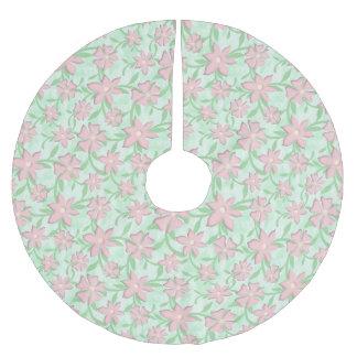 Kirschblüten-rosa Polyester Weihnachtsbaumdecke