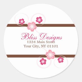 Kirschblüten-Rücksendeadresse-Aufkleber