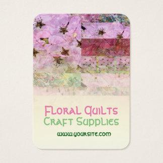 Kirschblüten-Steppdecken-Platten Visitenkarte