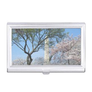 Kirschblüten und das Washington-Monument in DC Visitenkarten Dose