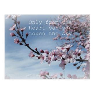 Kirschblüten-Zen-blühender Baum-Postkarte Postkarte
