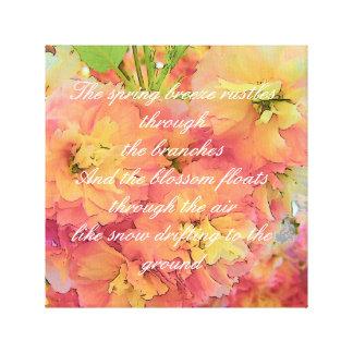 Kirschblütengedicht Leinwanddruck