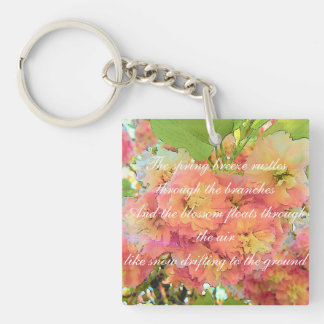 Kirschblütengedicht Schlüsselanhänger