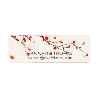 Kirschblütenwatercolor-BlumenRücksendeadresse