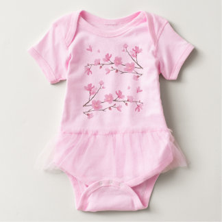 Kirsche Blüte-Rosa Baby Strampler