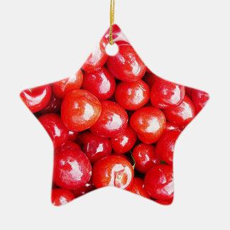 Kirsche Frucht-, diegesundheit gesunde rosa Keramik Ornament