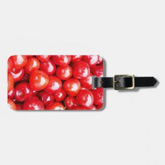 Kirsche Frucht-, diegesundheit gesunde rosa Leiden Kofferanhänger