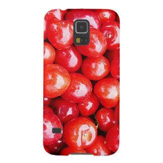 Kirsche Frucht-, diegesundheit gesunde rosa Samsung Galaxy S5 Hülle
