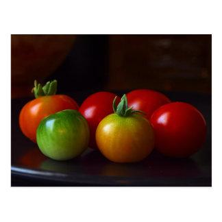 Kirsche-tomatos Postkarte