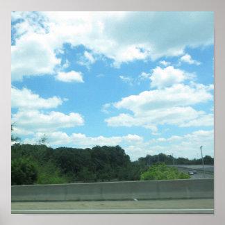 KIRSCHEhügel-New-Jersey USA Natur-Grün-Himmel-Baum Poster