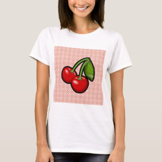 Kirschen auf Blume T-Shirt