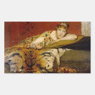 Kirschen durch Lawrence Alma-Tadema Rechteckiger Aufkleber