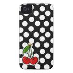 Kirschen; Großer Tupfen iPhone 4 Cover