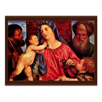 Kirschen Madonna durch Tizian (beste Qualität) Postkarte