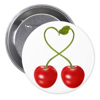 Kirschen mit Stamm-Knopf Anstecknadelbutton